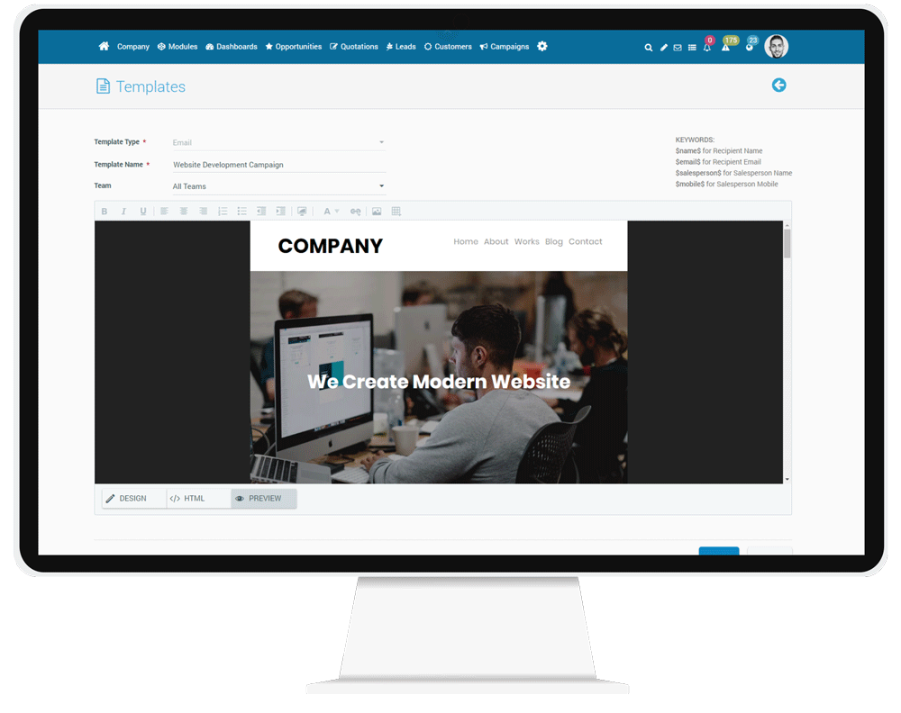 CorporateStack CRM Email Campaign