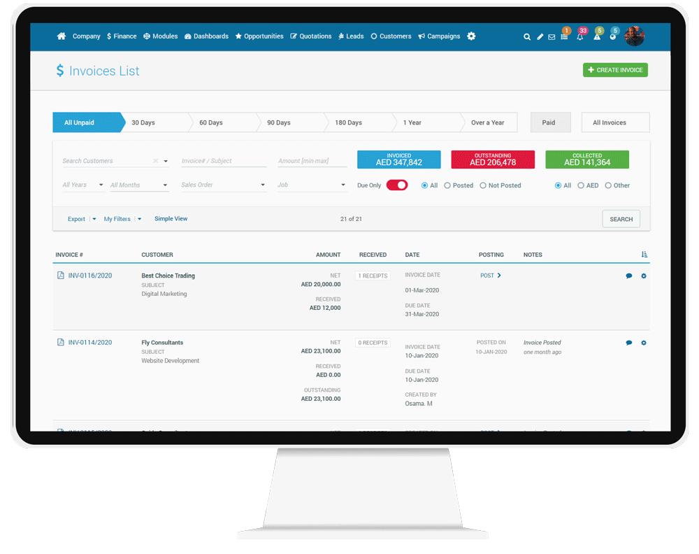 CorporateStack Finance Invoice